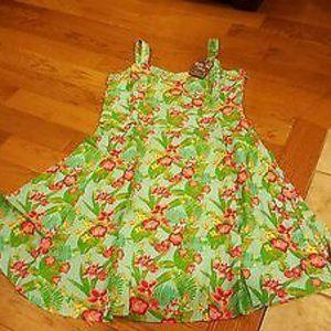 MATILDA JANE GREEN FLORAL DRESS SZ 10 NEW